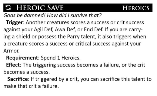 New Heroic Save