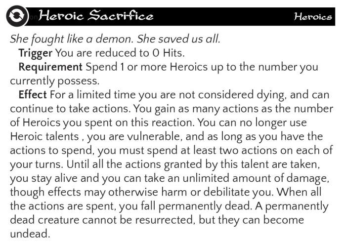 Heroic Sacrifice