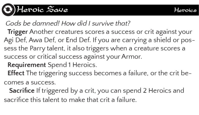 Heroic Save