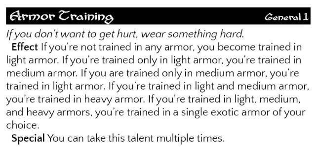armor training