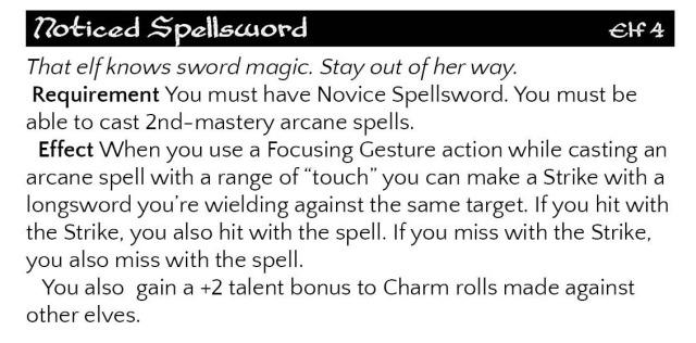 noticed spellsword