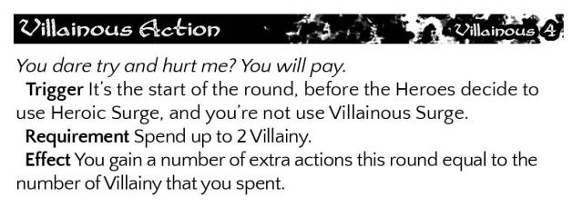 Villainous Action