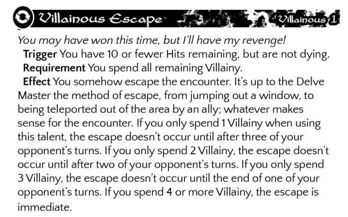 Villainous Escape